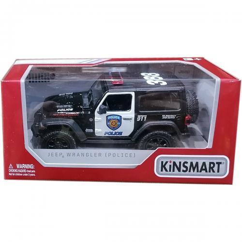 Masinuta metalica de politie Kinsmart - Jeep Wrangler - Masinute copii -