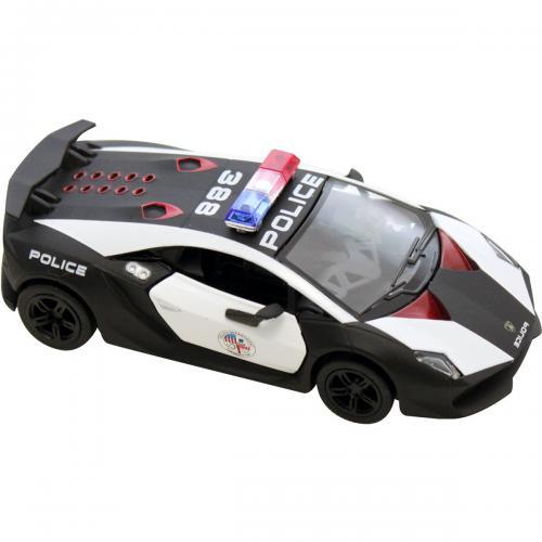 Masinuta metalica de politie Kinsmart - Lamborghini Sesto Elemento - Masinute copii -