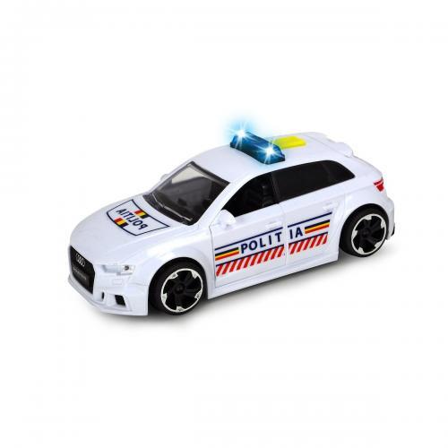 Masinuta Politia Romana Audi RS3 Dickie - Masinute electrice -