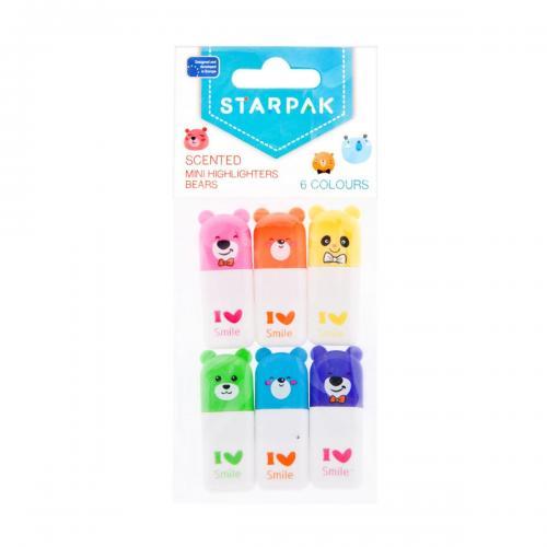 Mini markere parfumate Starpak - 6 culori - Rechizite scolare -