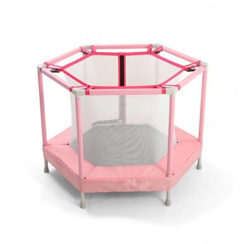 Mini trambulina pentru copii cu plasa interioara Nichiduta Jump Pink - Jucarii de exterior - Trambuline copii