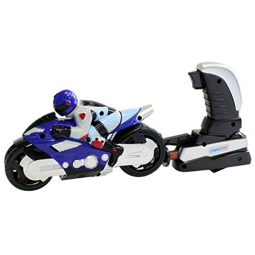 Motocicleta cu figurina si lansator Unika Toy - Albastru - Masinute copii -