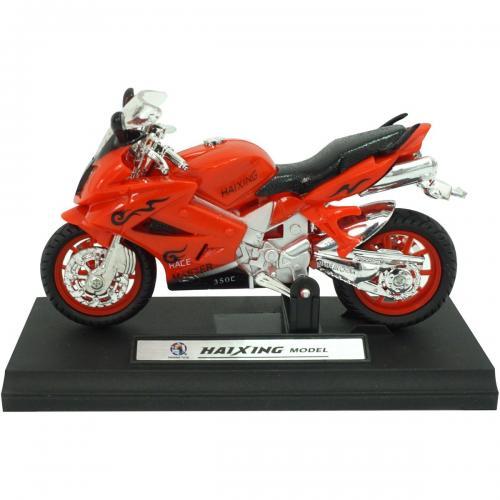 Motocicleta cu lumini si sunete Unika Toy - Rosu - 13 cm - Masinute electrice -