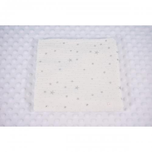 Muselina cu stelute Paturica Fermecata - Alb - Camera copilului - Perne paturici