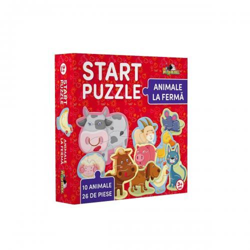 Noriel Puzzle - Start Puzzle - Animale la ferma - jocuri cu puzzle -