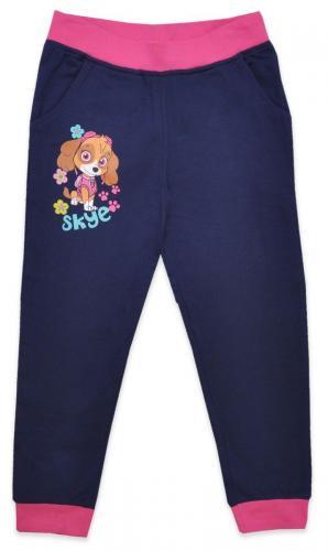 Pantaloni lungi de fete cu imprimeu Paw Patrol - Albastru - Imbracaminte copii - Pantaloni