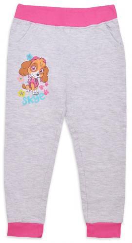 Pantaloni lungi de fete cu imprimeu Paw Patrol - Gri - Imbracaminte copii - Pantaloni