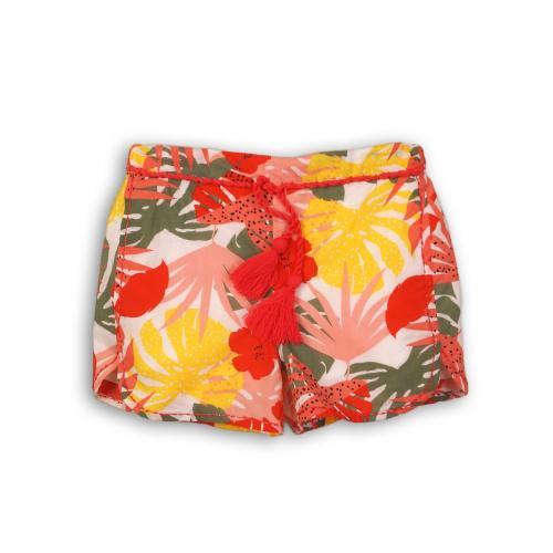 Pantaloni scurti cu talie elastica si snur - Minoti Funhouse - Imbracaminte copii - Pantaloni