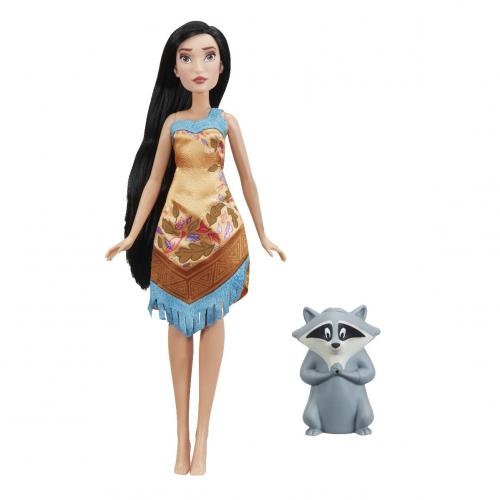 Papusa Pocahontas si Meeko Disney Princess - tematica acvatica - Papusi fetite -