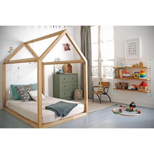 Pat casuta Home Concept Montessori Woody - Patuturi copii -