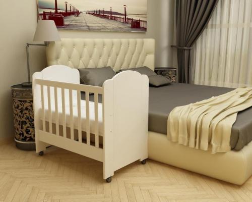 Patut Avo alb-alb D101 - Patuturi copii - Patut din lemn