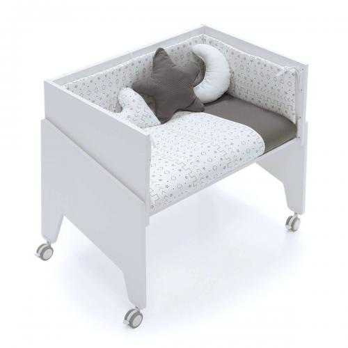 Patut bebe atasabil Home Concept - Alb - Patuturi copii -