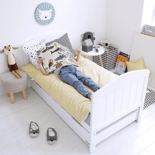 Patut din lemn masiv transformabil pentru bebe si junior Hampton cu Saltea Cocos Spuma 140 x 70 cm - Patuturi copii - Patut din lemn