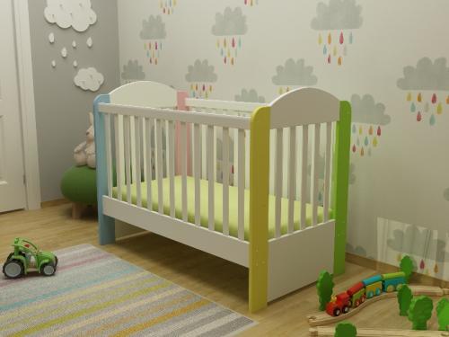Patut din lemn Olivia Colorful - Patuturi copii - Patut din lemn