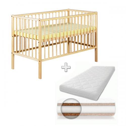 Patut din lemn Radek X Natur + Saltea Comfort 10 cm - Patuturi copii - Patut din lemn