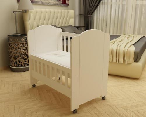 Patut Moksi alb-alb D101 - Patuturi copii - Patut din lemn
