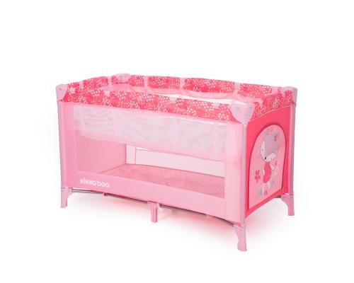 Patut pliabil cu 2 nivele KikkaBoo Pyjama Party Pink Fox - Patuturi copii - Patut pliabil