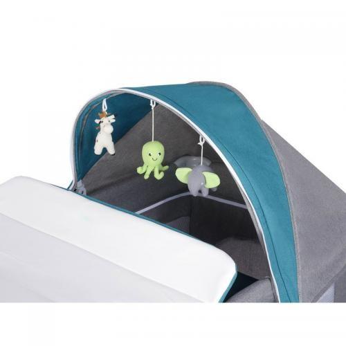 Patut pliant Simon GreyTurquoise - Patuturi copii - Patut pliabil