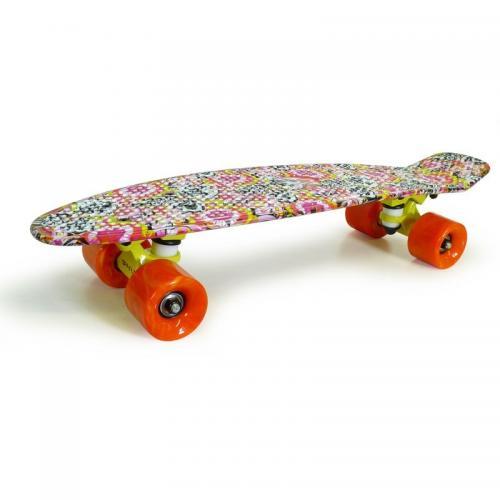 Pennyboard cu motive florale - La plimbare - Skateboard