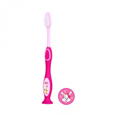 Periuta pentru dinti de lapte Chicco - 3 - 6 ani - Roz - Ingrijire corporala - Igiena orala
