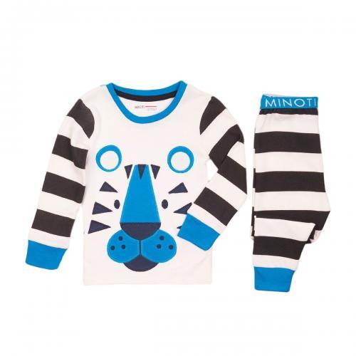 Pijama cu imprimeu Tiger Minoti Pyja - Imbracaminte copii - Pijamale copilasi