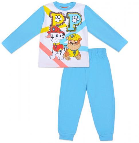 Pijama de baieti cu imprimeu Paw Patrol - Turcoaz - Imbracaminte copii - Pijamale copilasi