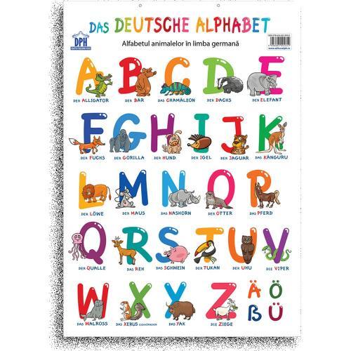 Plansa Editura DPH - Alfabetul animalelor in limba germana - Carti pentru copii -