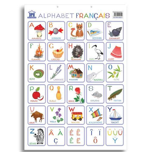 Plansa Editura DPH - Alfabetul ilustrat al limbii franceze - Carti pentru copii -