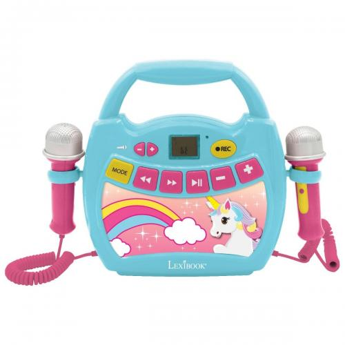 Primul meu Karaoke portabil cu 2 microfoane Lexibook - Unicorn - Jucarii interactive -