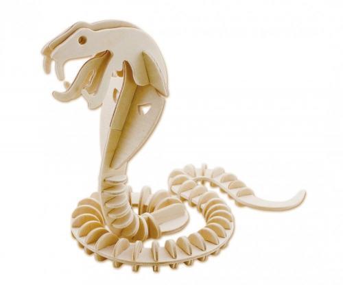 Puzzle din lemn 3D Safari Eicchorn - Sarpe - Jucarii Montessori -