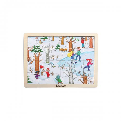 Puzzle din lemn Beeboo - Iarna - jocuri cu puzzle -