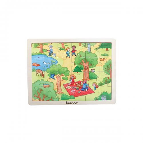 Puzzle din lemn Beeboo - Primavara - jocuri cu puzzle -