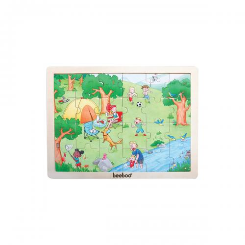 Puzzle din lemn Beeboo - Vara - jocuri cu puzzle -