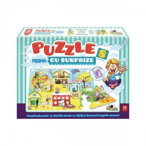 Puzzle Noriel - Ferma cu Surprize - 36 piese - jocuri cu puzzle -