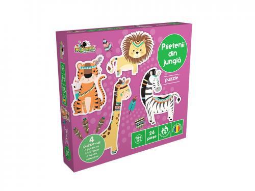 Puzzle Noriel - Prietenii din jungla - jocuri cu puzzle -