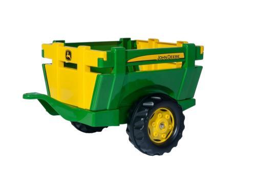 Remorca John Deere Farm Trailer green - Masinute copii -