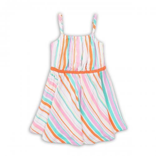 Rochie cu bretele Minoti Sand - Imbracaminte copii - Rochii fetite