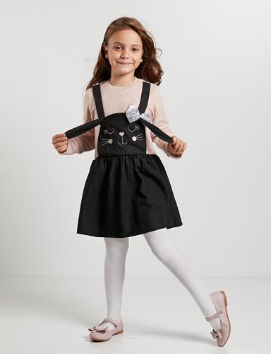 Rochie cu maneca lunga Bunny Denokids - Imbracaminte copii - Rochii fetite