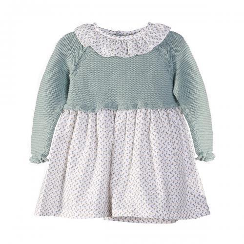 Rochie cu maneca lunga si volane Zippy - Imbracaminte copii - Rochii fetite