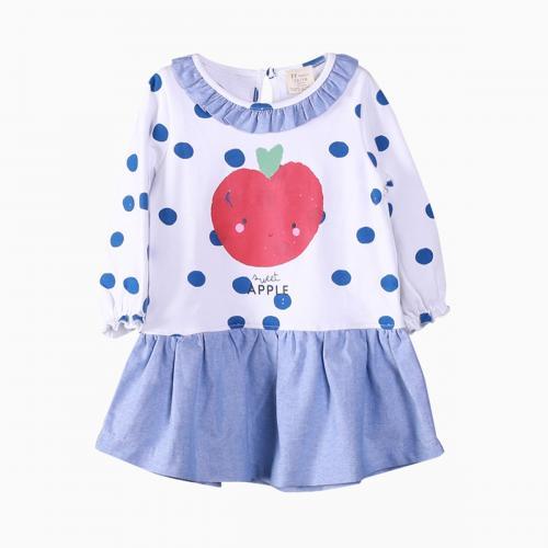 Rochie cu maneca lunga Sweet Apple Zippy - Imbracaminte copii - Rochii fetite