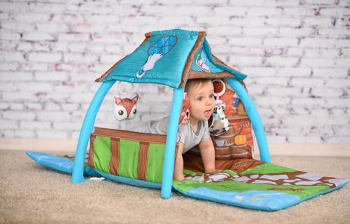 Saltea de activitate tip casuta Little House 113x56x53 cm multicolor - Camera copilului - Centru de activitati