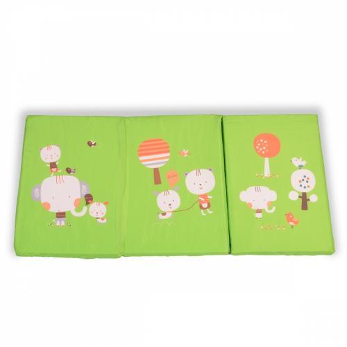 Saltea pliabila 120x60x5 cm Moni Bisou Green - Camera copilului - Saltele patut