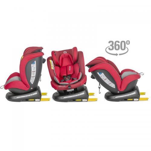 Scaun auto rotativ 0-36 kg Coccolle Mydo Dahlia red - Scaune cu isofix -