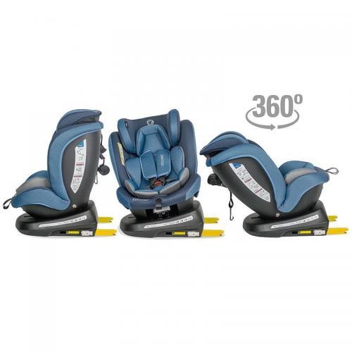 Scaun auto rotativ 0-36 kg Coccolle Mydo Pure blue - Scaune cu isofix -