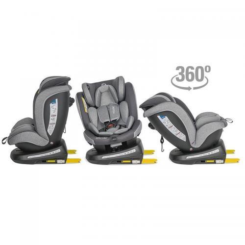 Scaun auto rotativ 0-36 kg Coccolle Mydo Urban grey - Scaune cu isofix -
