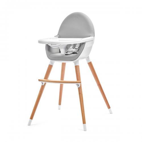 Scaun de masa 2 in 1 Kinderkraft Fini - Gri - Booster copii -