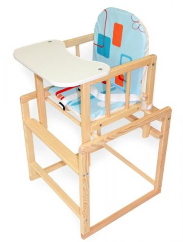 Scaun de masa multifunctional din lemn Klups Aga I Natur Multi - Booster copii -