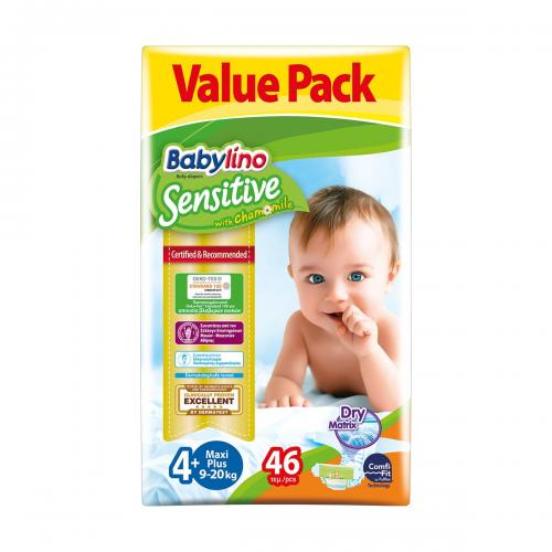 Scutece Babylino Sensitive Economy - N4+ - 9-20 kg - 46 Buc - Ingrijirea bebelusului - Scutece bebelusi
