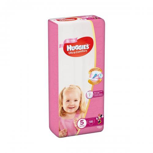 Scutece Huggies Ultra Comfort Girls - Nr 5 - 12 - 22 Kg - 56 buc - Ingrijirea bebelusului - Scutece bebelusi