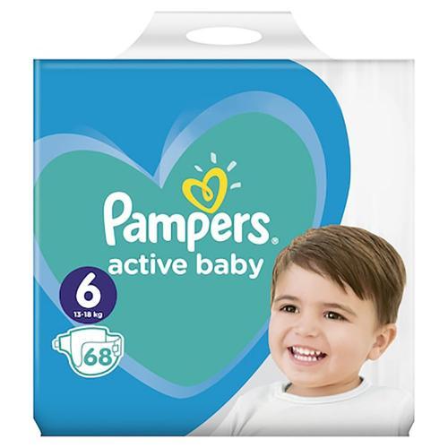Scutece Pampers Active Baby - Nr 6 - 13 - 18 kg - 68 buc - Ingrijirea bebelusului - Scutece bebelusi